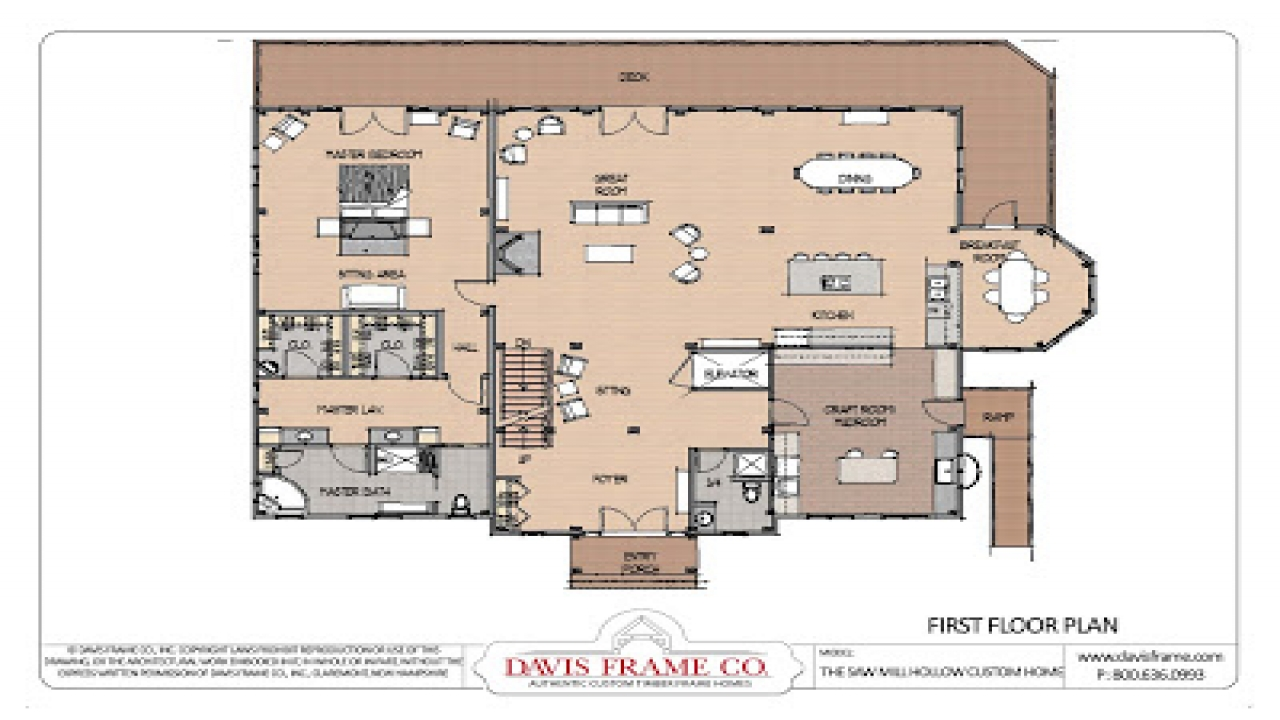 Small timber frame homes million dollar timber frame home for Timber frame ranch home plans