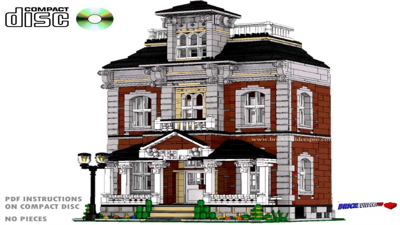 Cool lego houses to build custom lego house instructions for Custom victorian homes