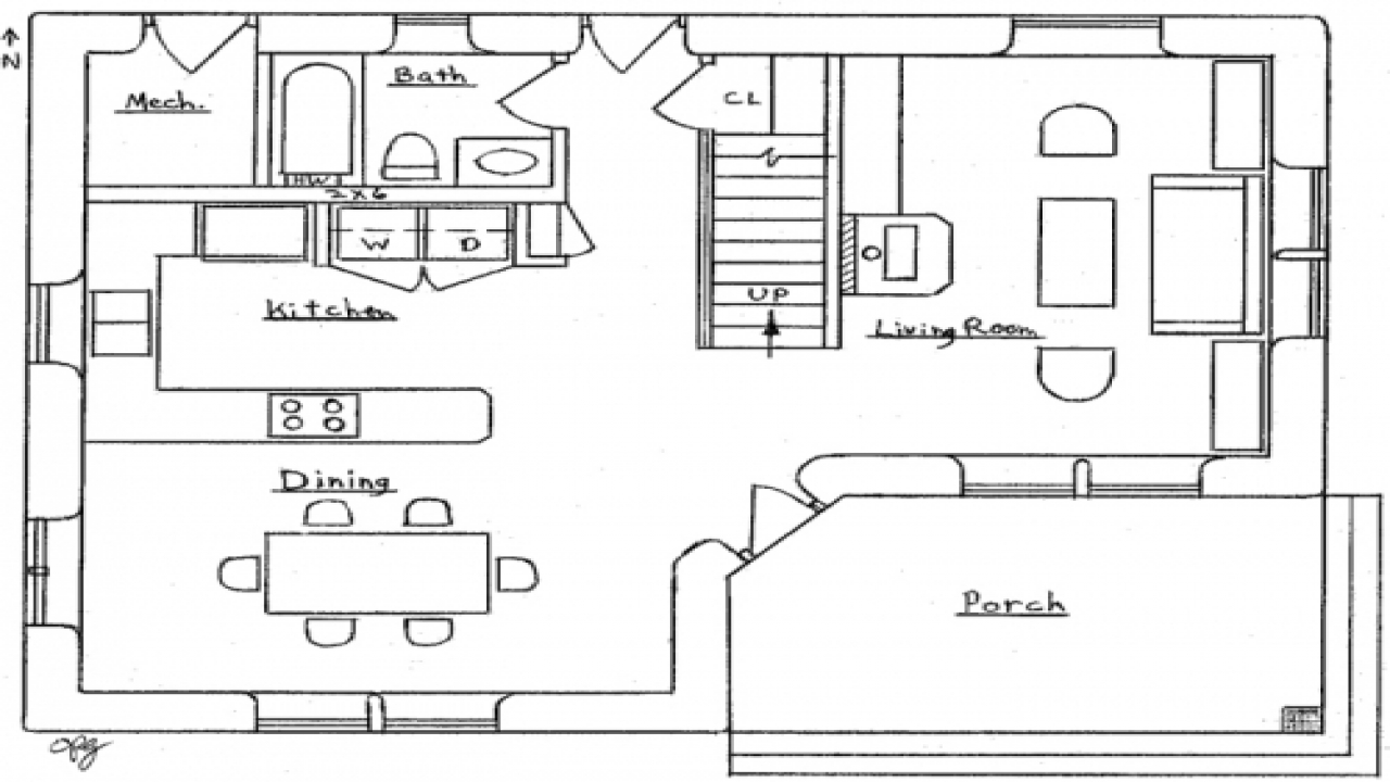 Small two bedroom house floor plans small two bedroom for 2 bedroom cabin designs