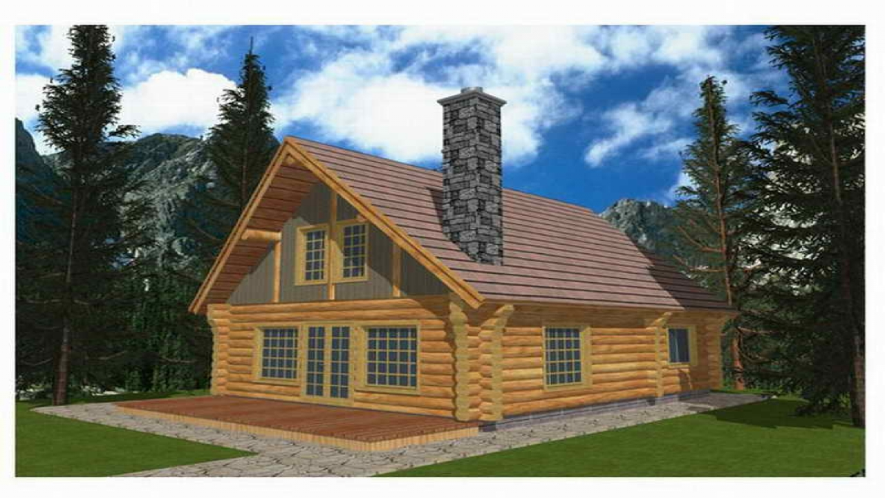 Log cabin house plans log cabin homes floor plans two for Two story log cabin kits