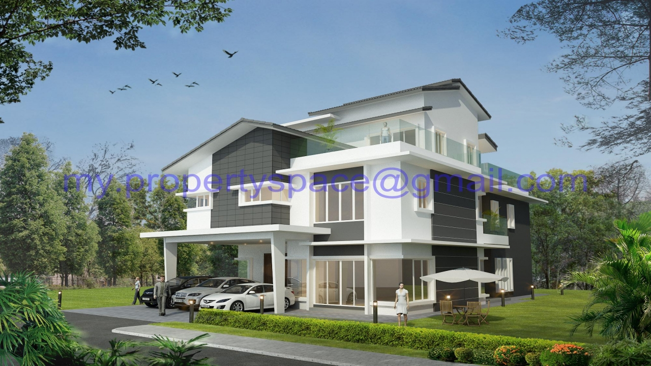 Modern bungalow house design malaysia contemporary for Modern bungalow house design 2016