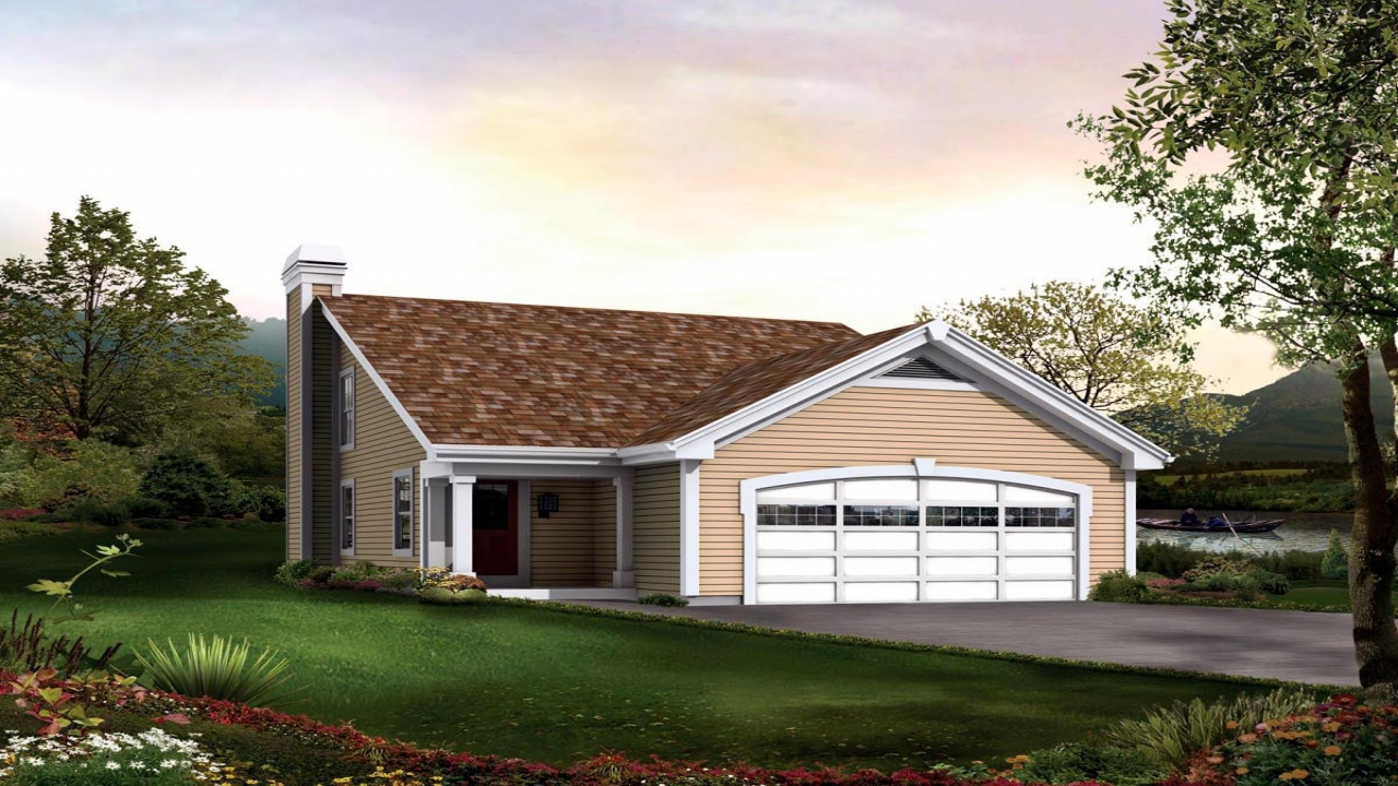 Saltbox house plans with garage colonial saltbox home for Ranch house with garage