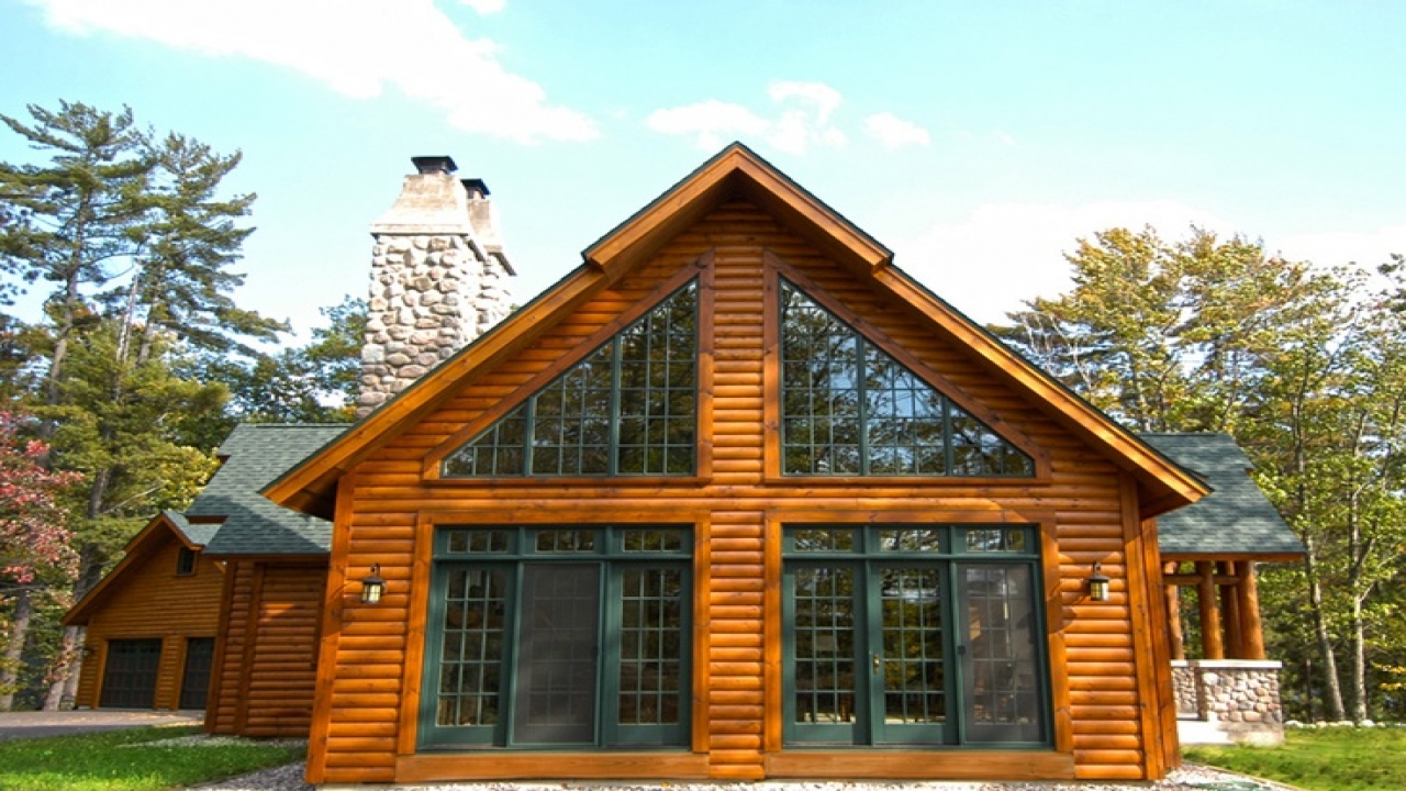 Chalet style log home plans cedar chalet homes cabins for Log cabin style house