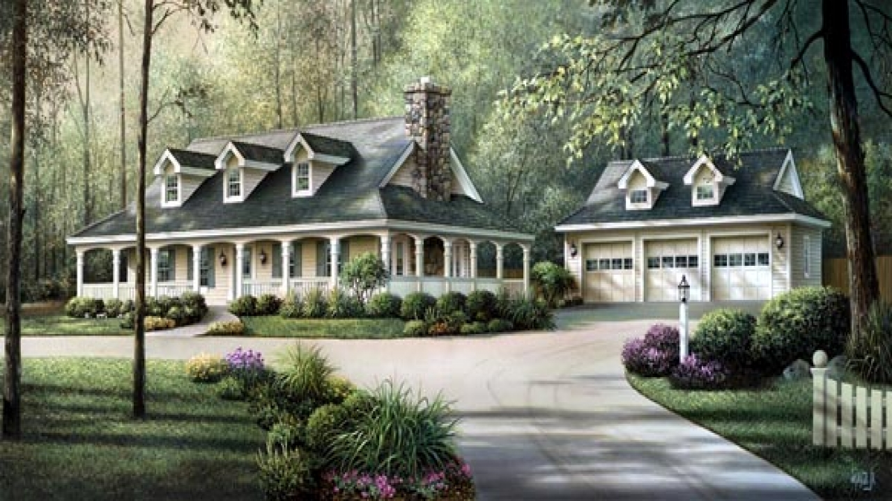Country house plans with wrap around porches country house for Country farm house plans