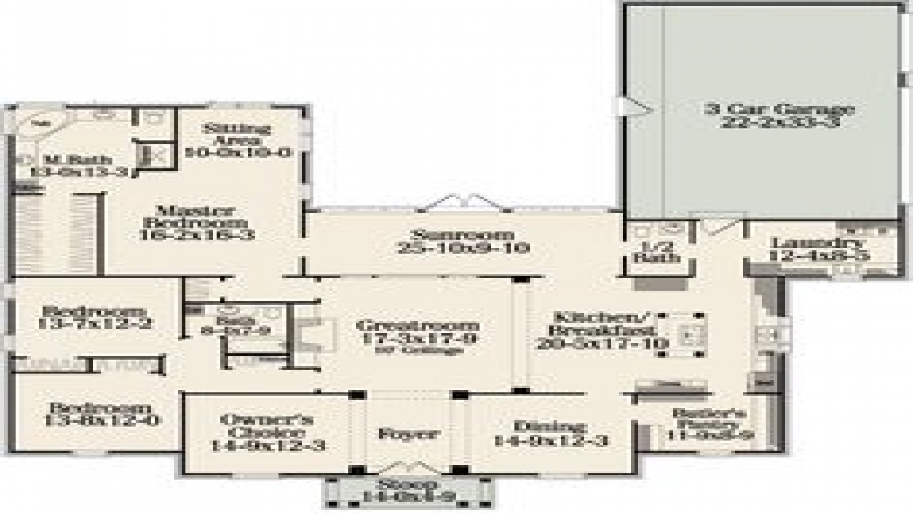 One Floor House Plans with Open Concept Best One Story ...