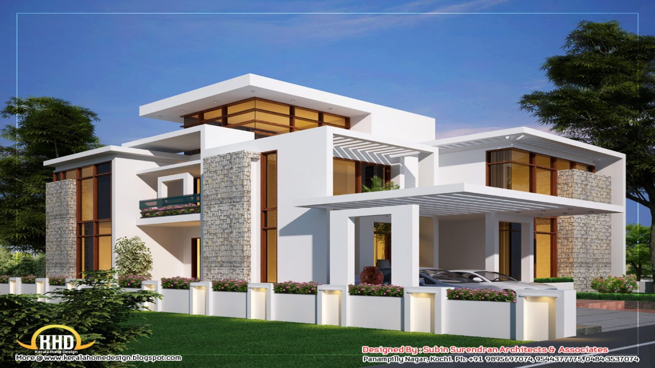 Contemporary home designs house plans contemporary house for Interior modern house designs