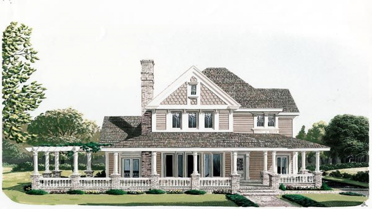 Country victorian house plans with porches victorian Carriage house plans