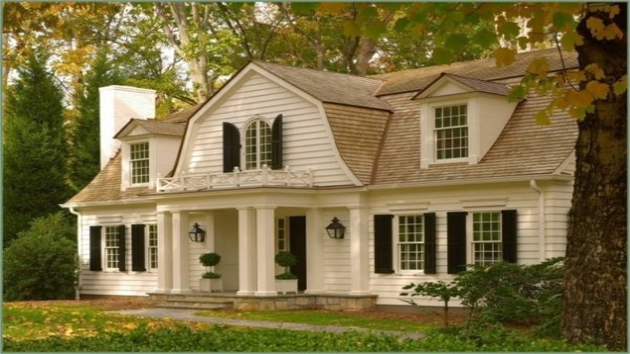 Dutch colonial style houses colonial style homes small for Colonial home builders