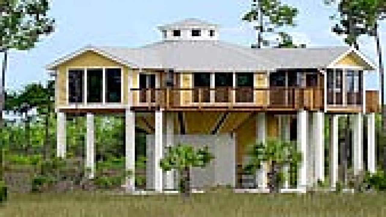 Florida stilt home plans stilt home builders in texas for Coastal home builders texas