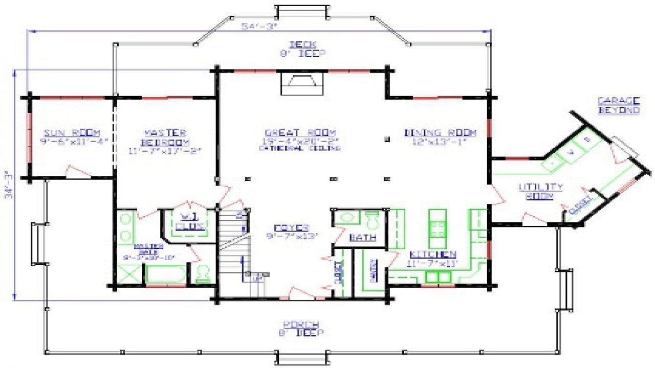 Free printable house floor plans free printable house for Free farmhouse plans