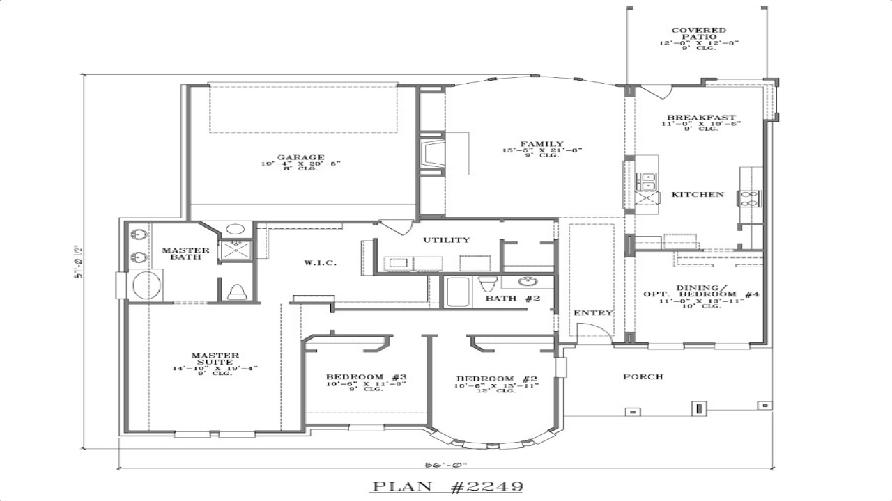 House Plans With Rear Garage Simple Small House Floor
