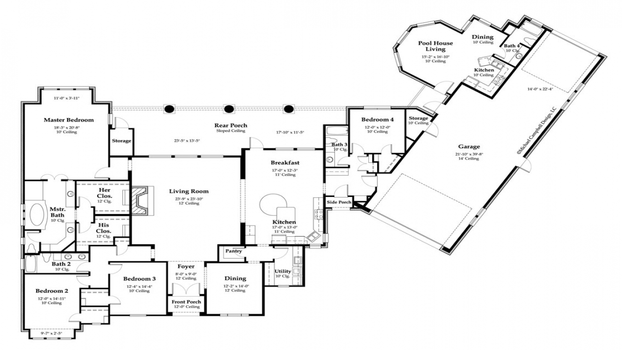 Rustic country house plans country house floor plans for Rustic country home floor plans