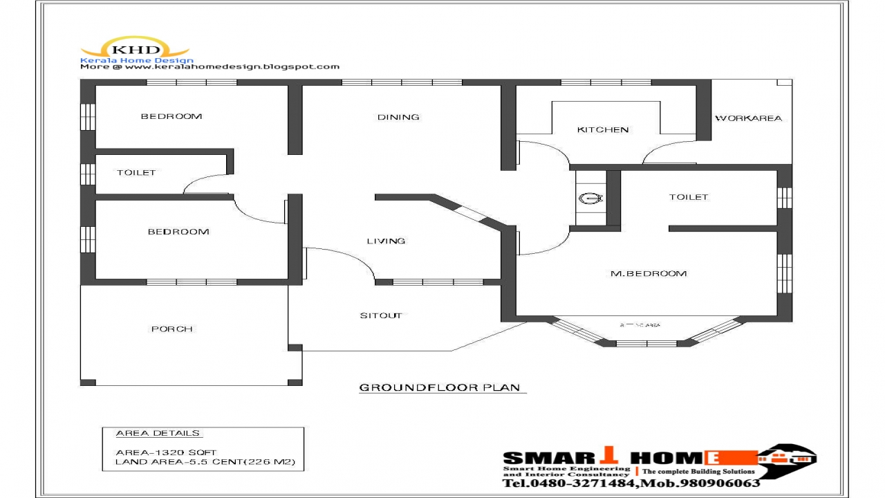 Single Floor Plan And Elevation : Single floor house plan and elevation sq ft kerala