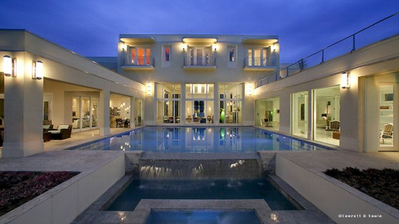 V shaped ranch house plans u shaped house plans with pool for Award winning lakefront house plans