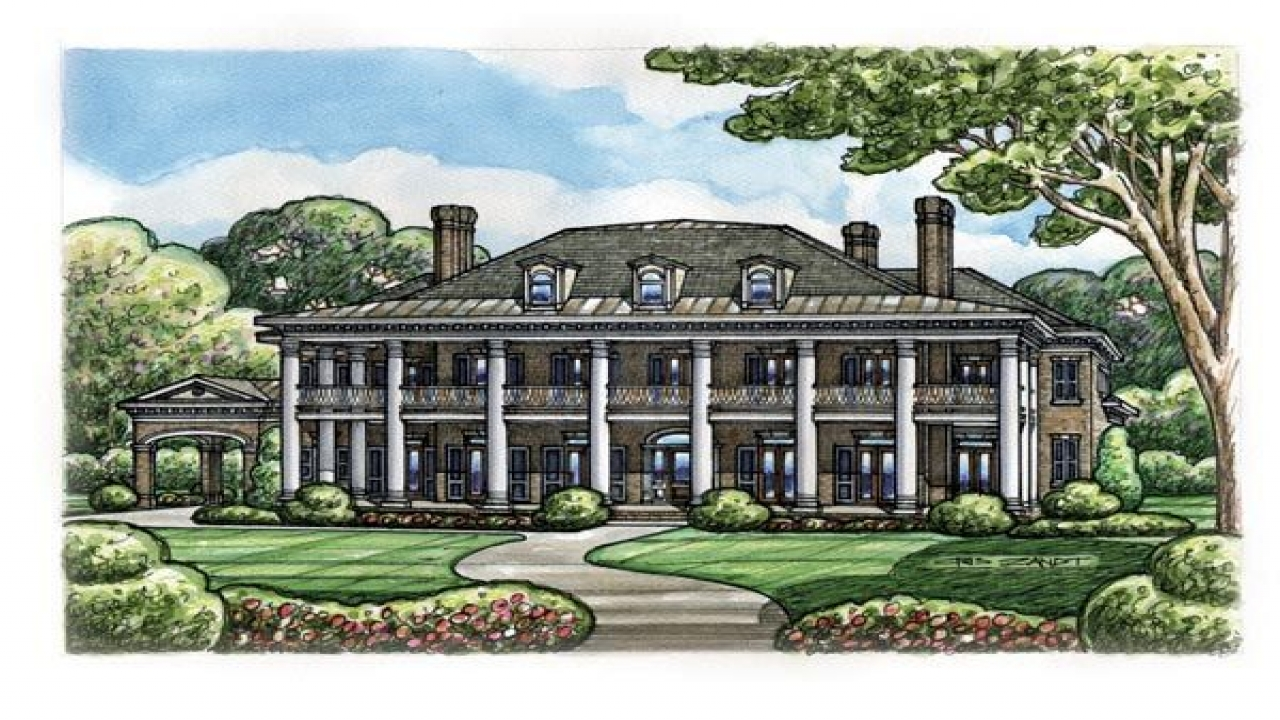 Colonial plantation house plans historic southern for Historic plantation house plans