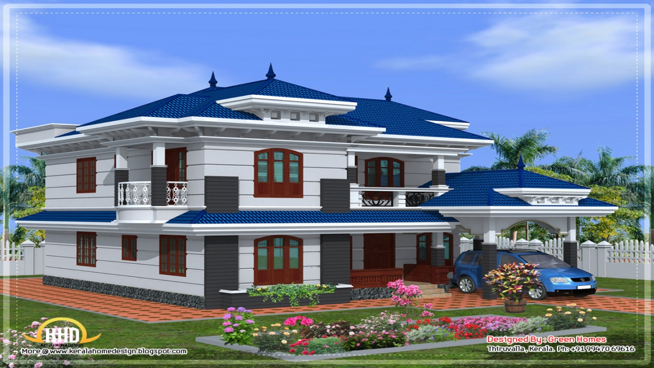 beautiful house designs in kerala the most beautiful houses ever new model home plan. Black Bedroom Furniture Sets. Home Design Ideas