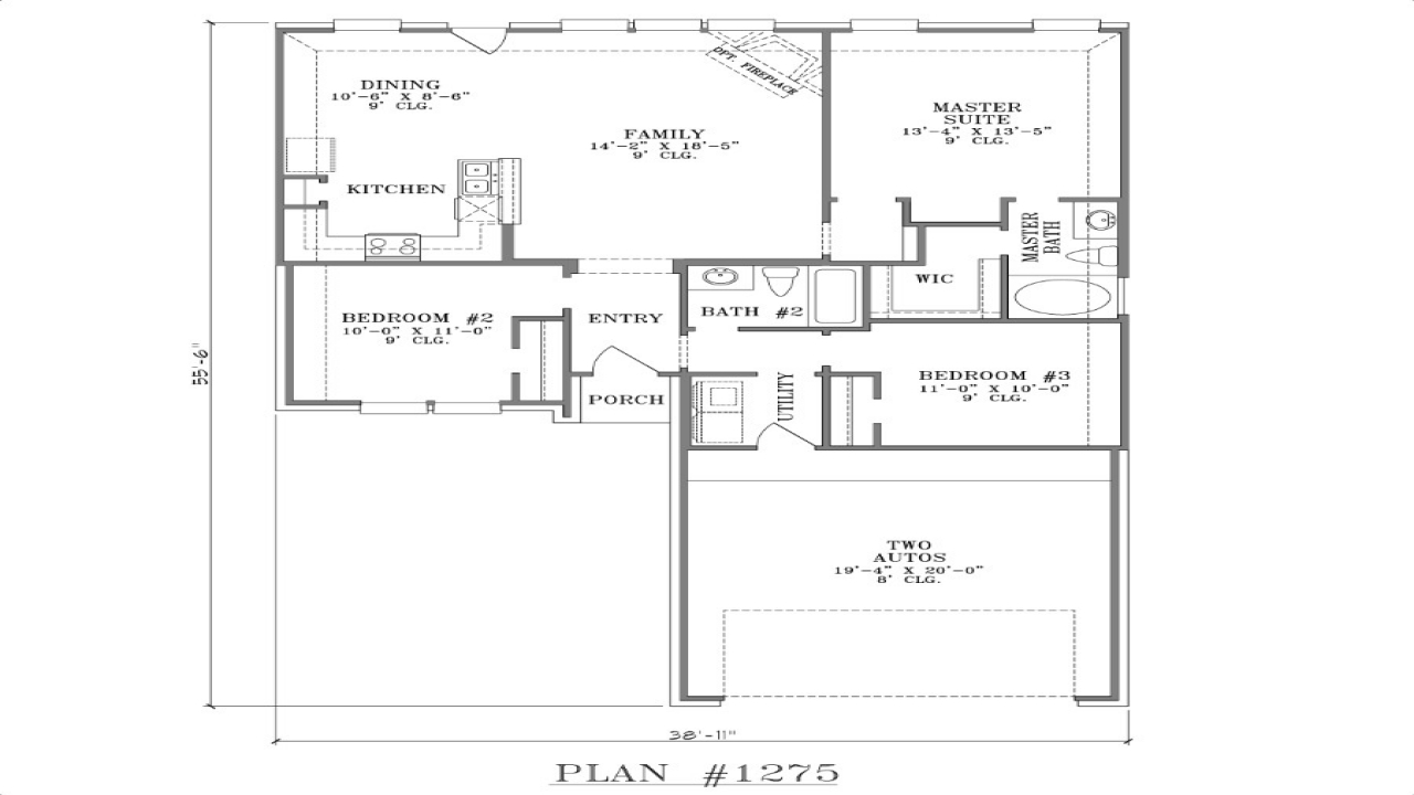 Ranch house floor plans open floor plan house designs open cottage floor plans for Open floor plan ranch house designs