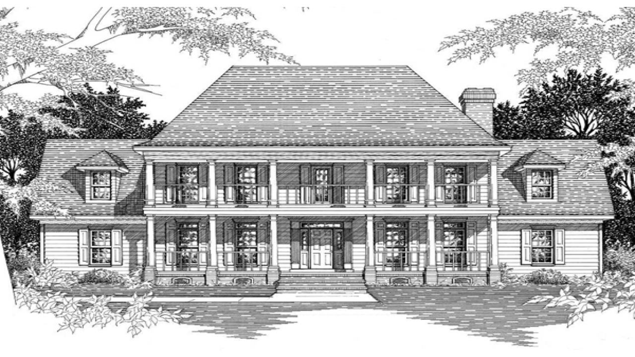 Southern plantation home plans historic southern for Plantation house plans