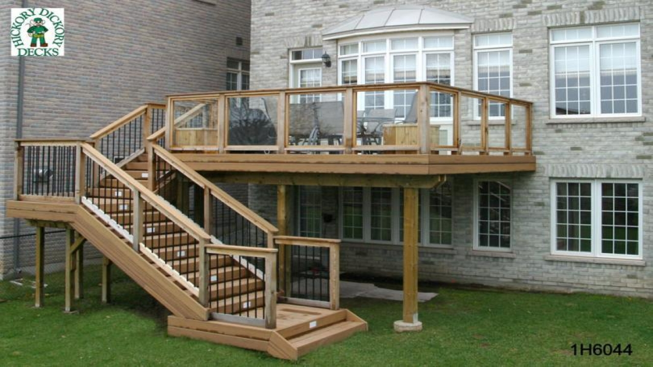 Elevated Deck Designs With Stairs Deck Designs On A Budget