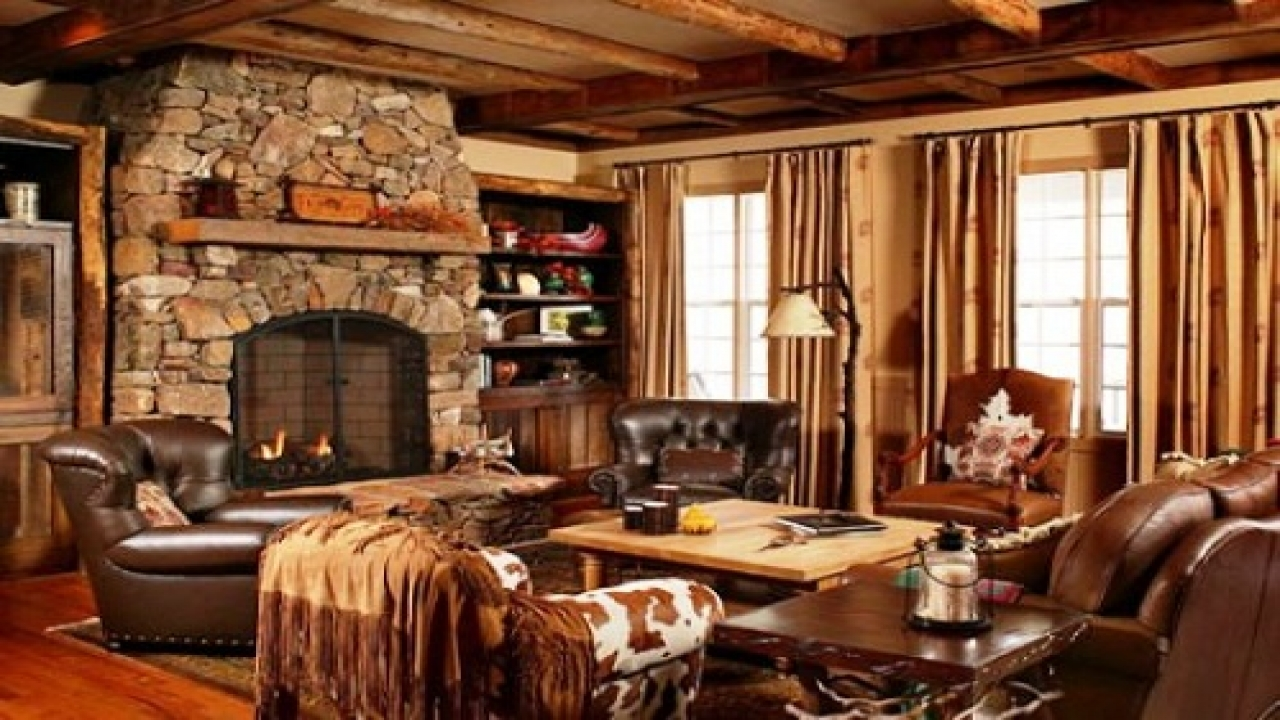 Cabin style decorating living room small house plans cabin for Cabin style homes