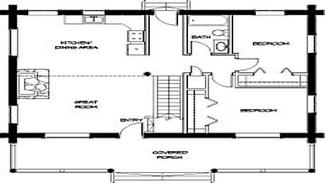 Small cabin floor plans simple small house floor plans for Simple cabin plans 24 by 24