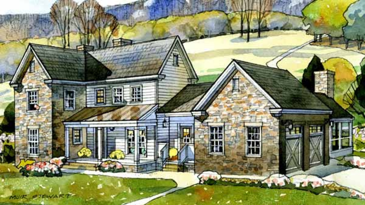 Southern washington valley view plan southern living for Southern farmhouse