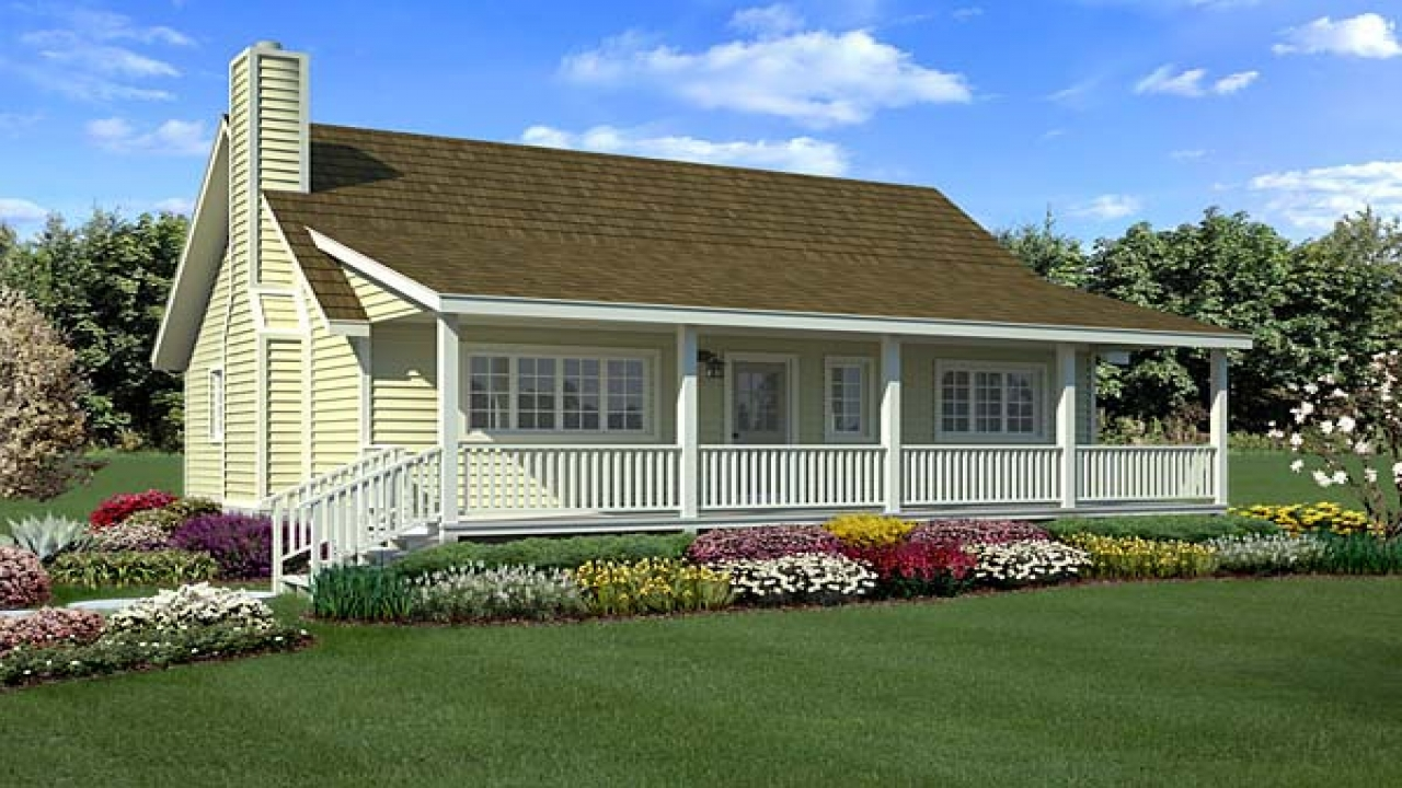 Tiny Home Designs: Country House Plans With Porches Small Country Farmhouse