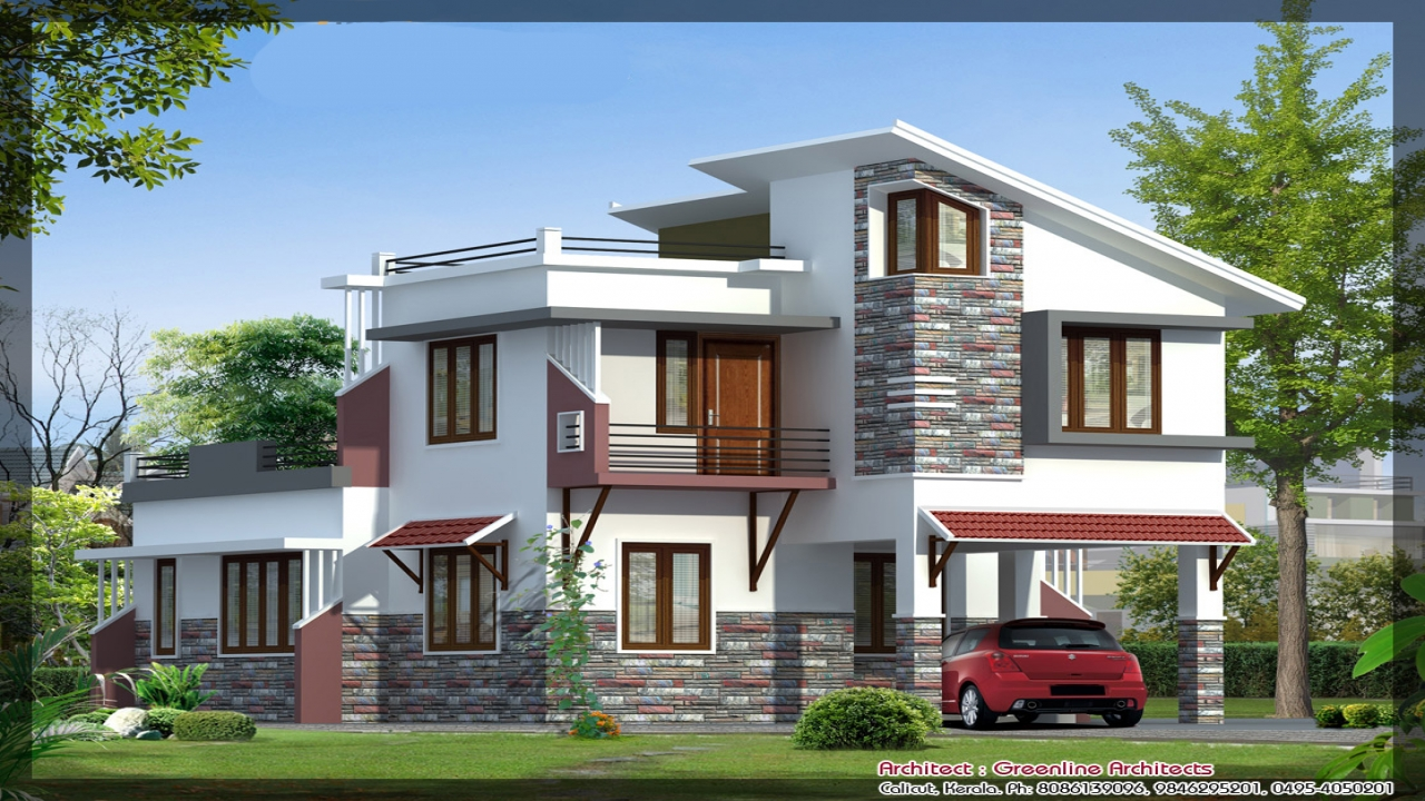 N Home Designs With Elevations : Modern villa design elevation small
