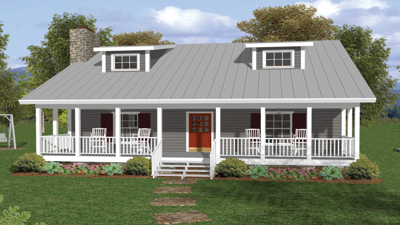 One and a half story house plans with porches number one for Story and a half house