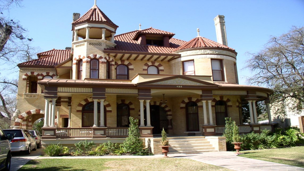 Queen anne victorian house style architecture old for Queen anne victorian