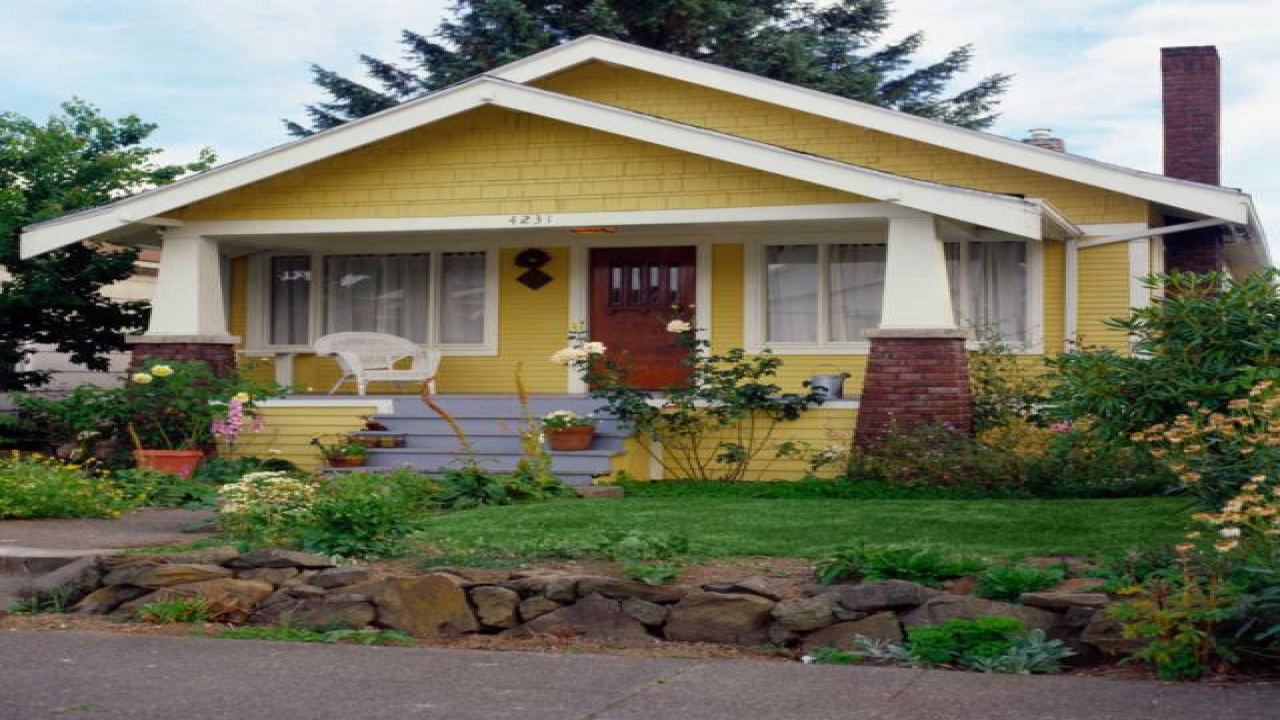 Small house plans craftsman bungalow yellow craftsman - What is a bungalow house ...