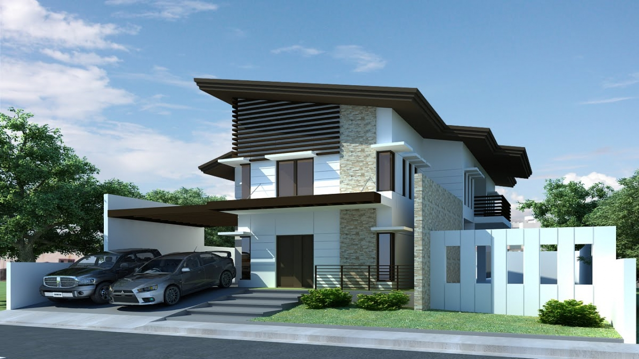 Modern house exterior design small house designs modern 2 for Home design ideas