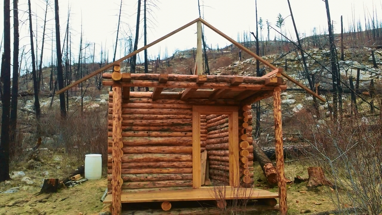 how to build a small log cabin
