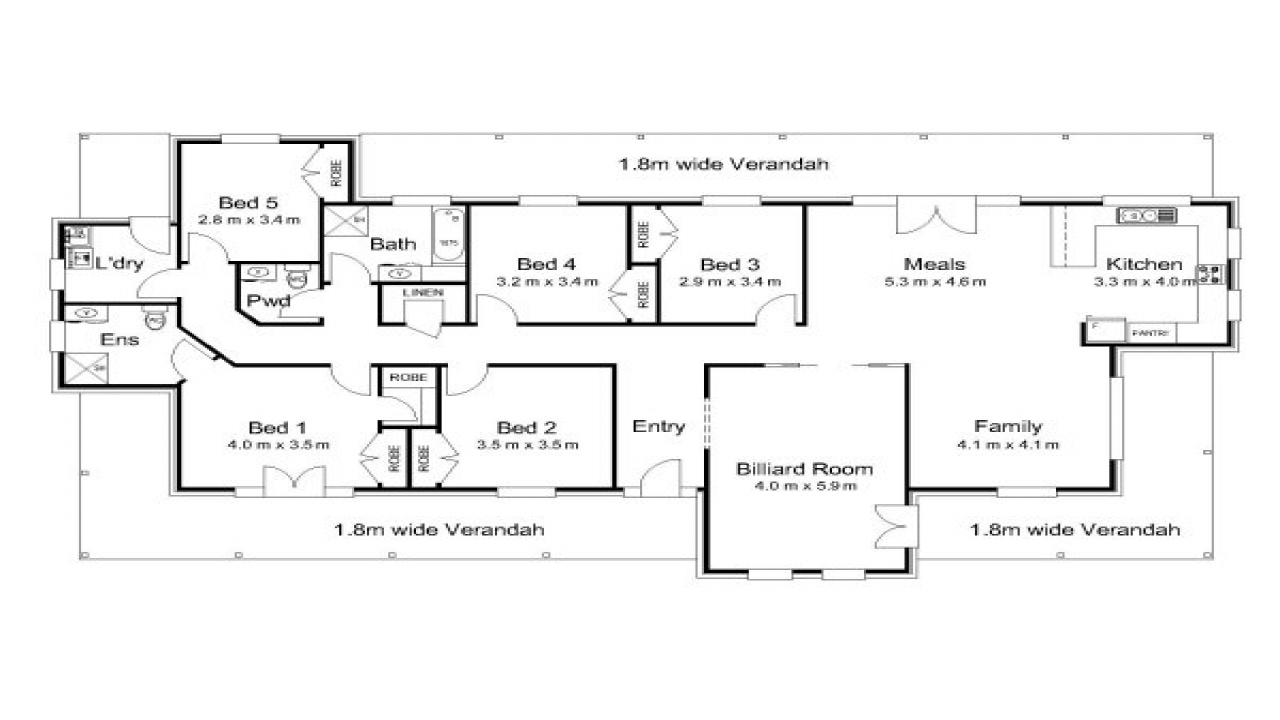 Modern 5 Bedroom House Plans 5 Bedroom House Plans ...