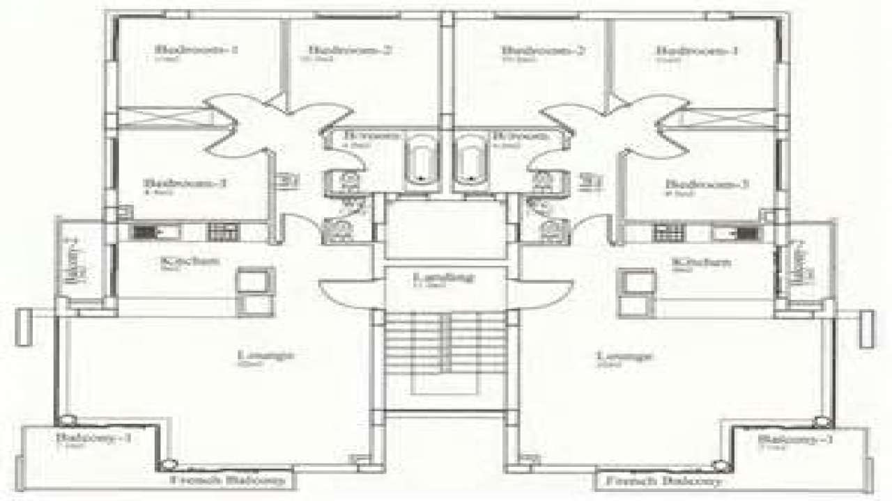 Residential house plans 4 bedrooms 4 bedroom bungalow for 03 bedroom house plan