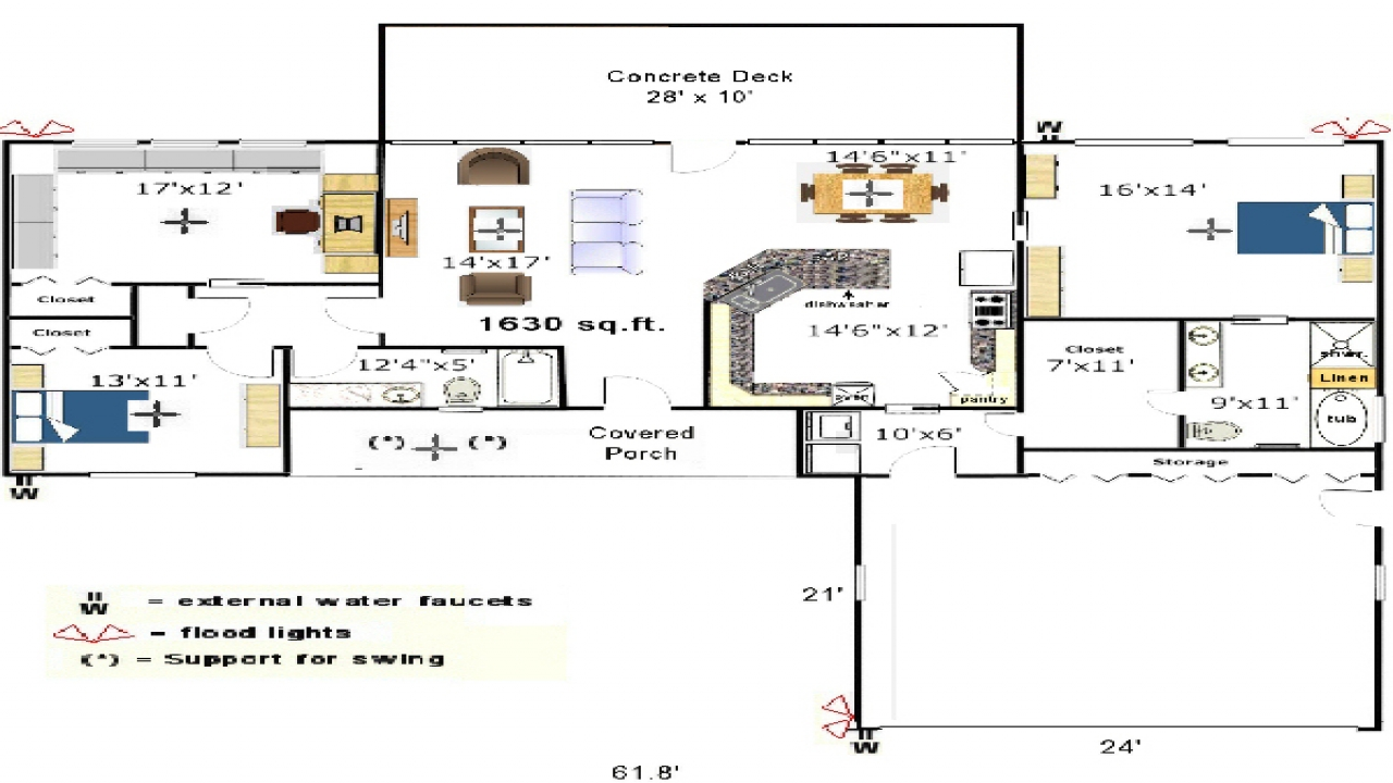 Galley kitchen floor plans small kitchen floor plans for House plans with galley kitchen