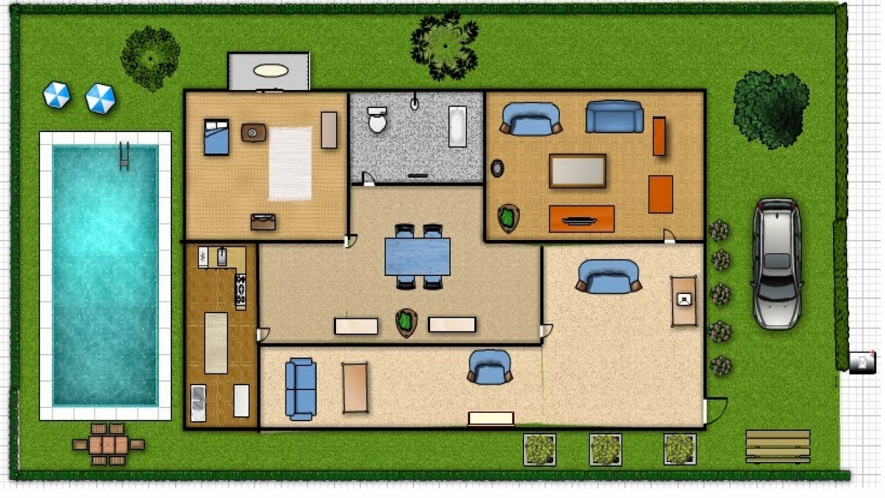 Assignments in comp 101 floor plan my dream house my for My dream house plans
