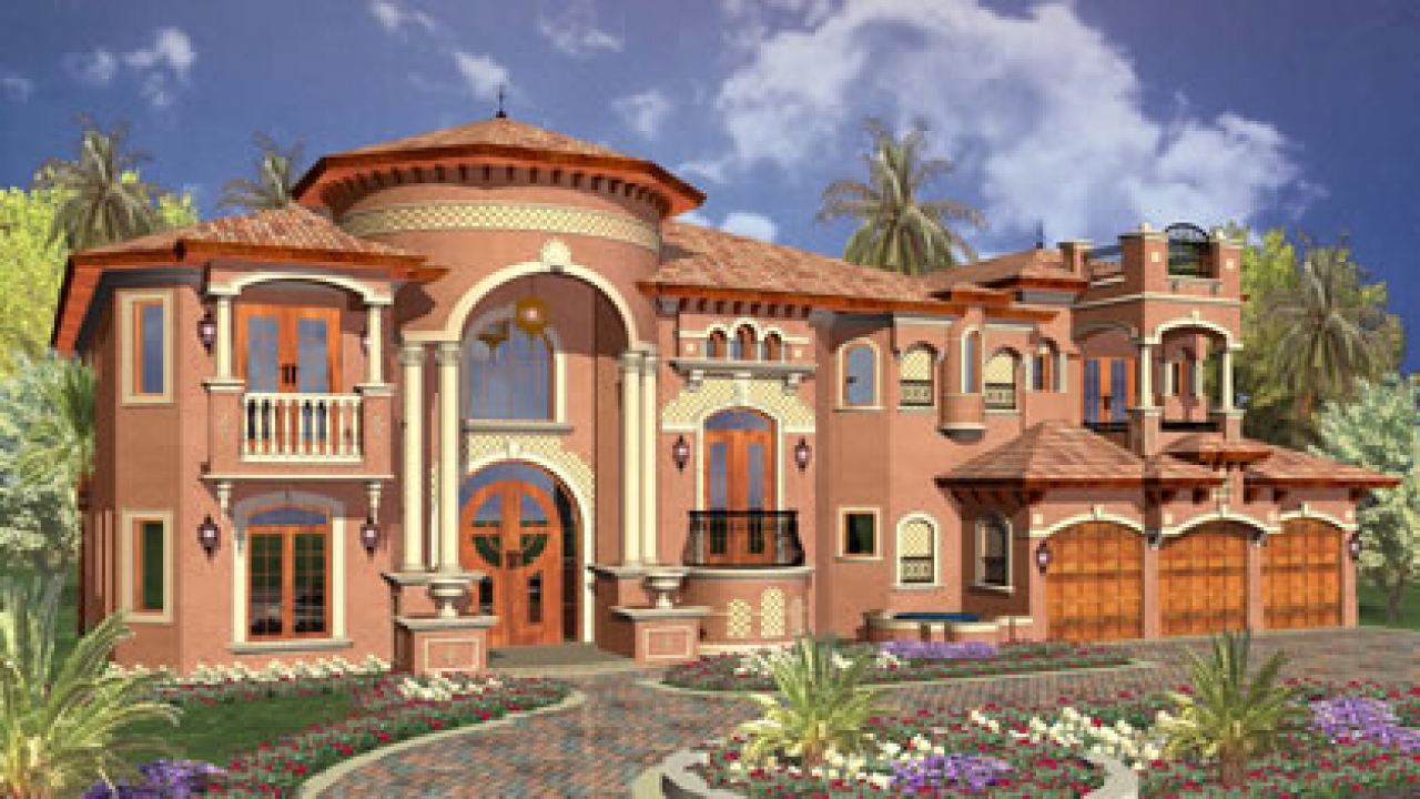 Luxury mediterranean house plans dream luxury house plans for Luxury house plans with photos