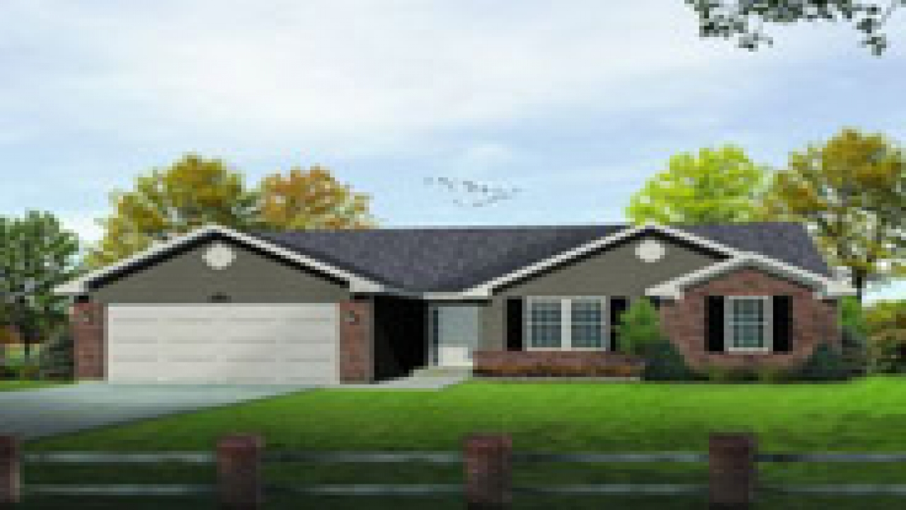 Single level ranch house plans 3 000sqft single level for Single ranchers