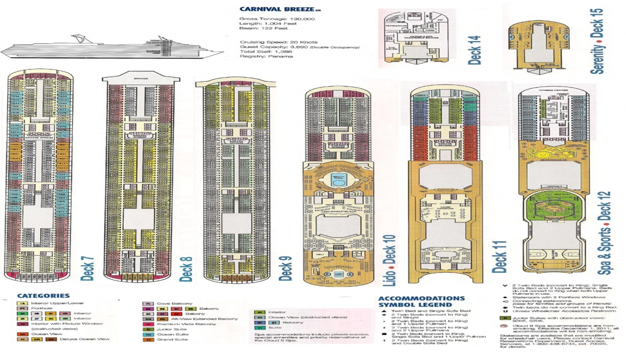 Carnival breeze deck plan carnival breeze staterooms for Deck plans online