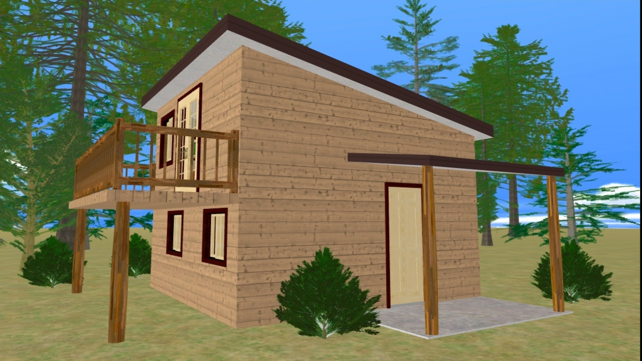 Small house plans with balconies small house plans with for Simple house plans with loft