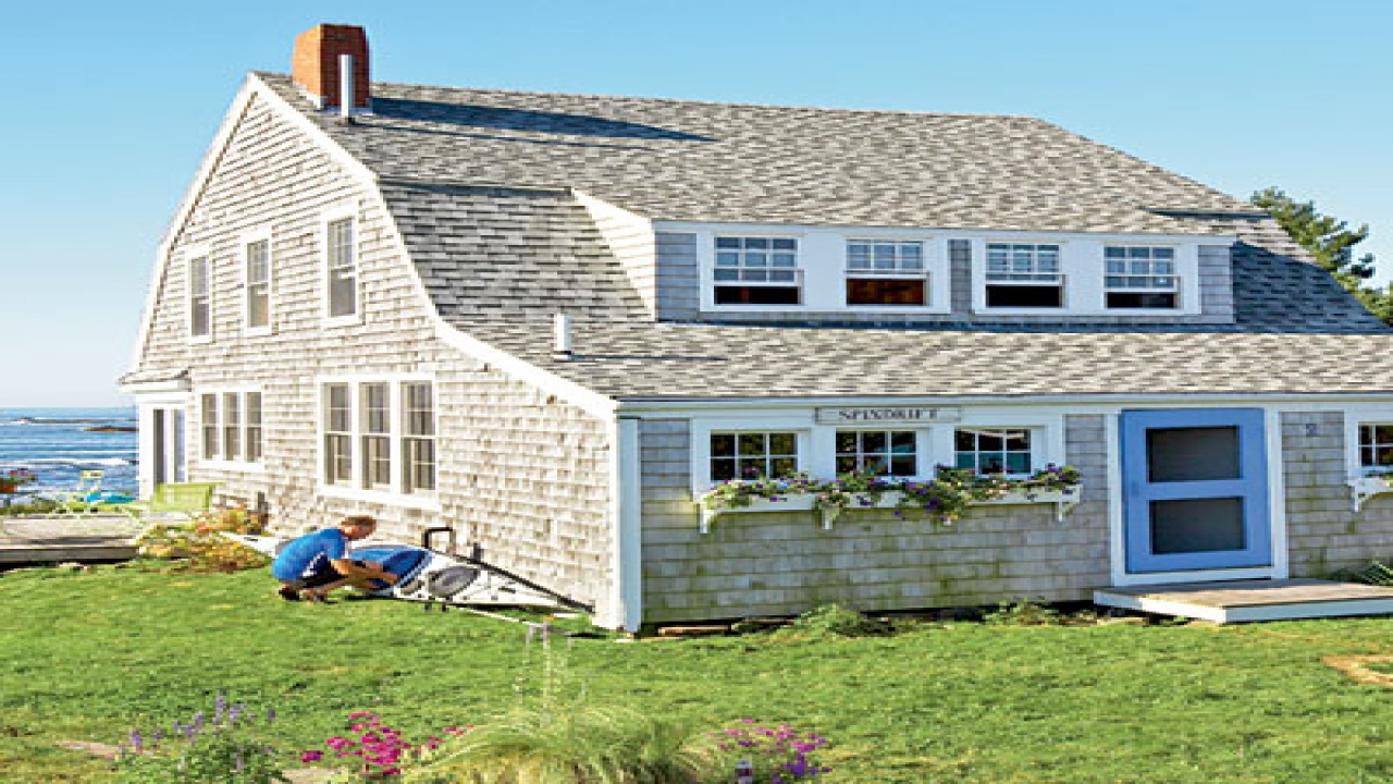 New england beach cottage new england beach cottage for Maine cottage house plans