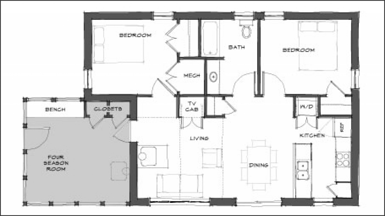 Mini house floor plans modern tiny house floor plans for Free floor plan designs