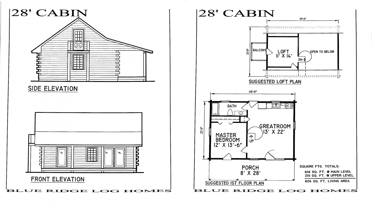 Small log cabin homes floor plans small rustic log cabins for Simple log cabin plans free