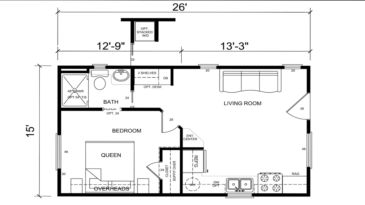 Tiny House Floor Plans For Families Small Cabins Tiny