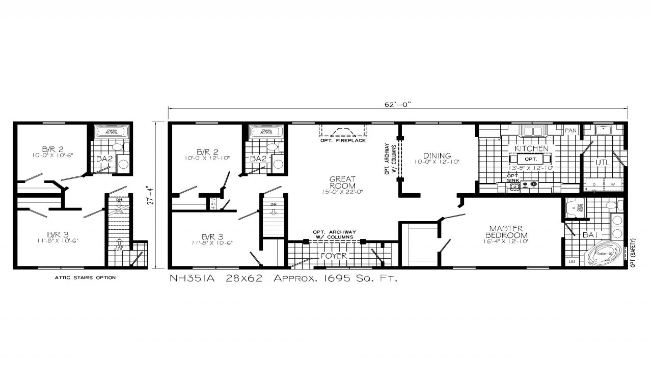Unique ranch style home floor plans 1 5 story home styles for 1 5 story homes