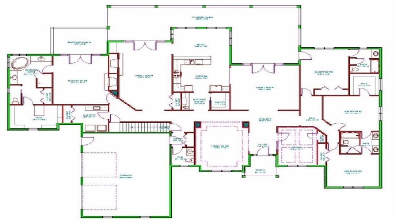 Raised ranch house split ranch house floor plans single for Large ranch floor plans