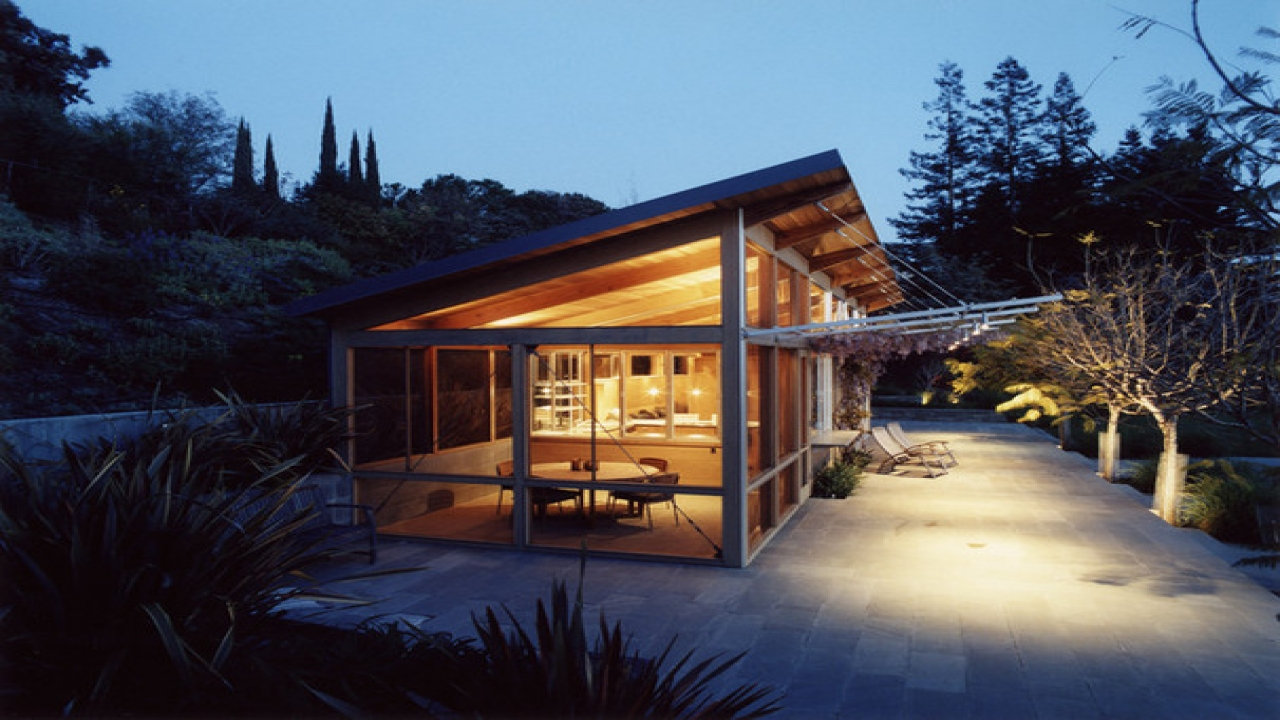 Shed Roof Contemporary House Interiors Houses