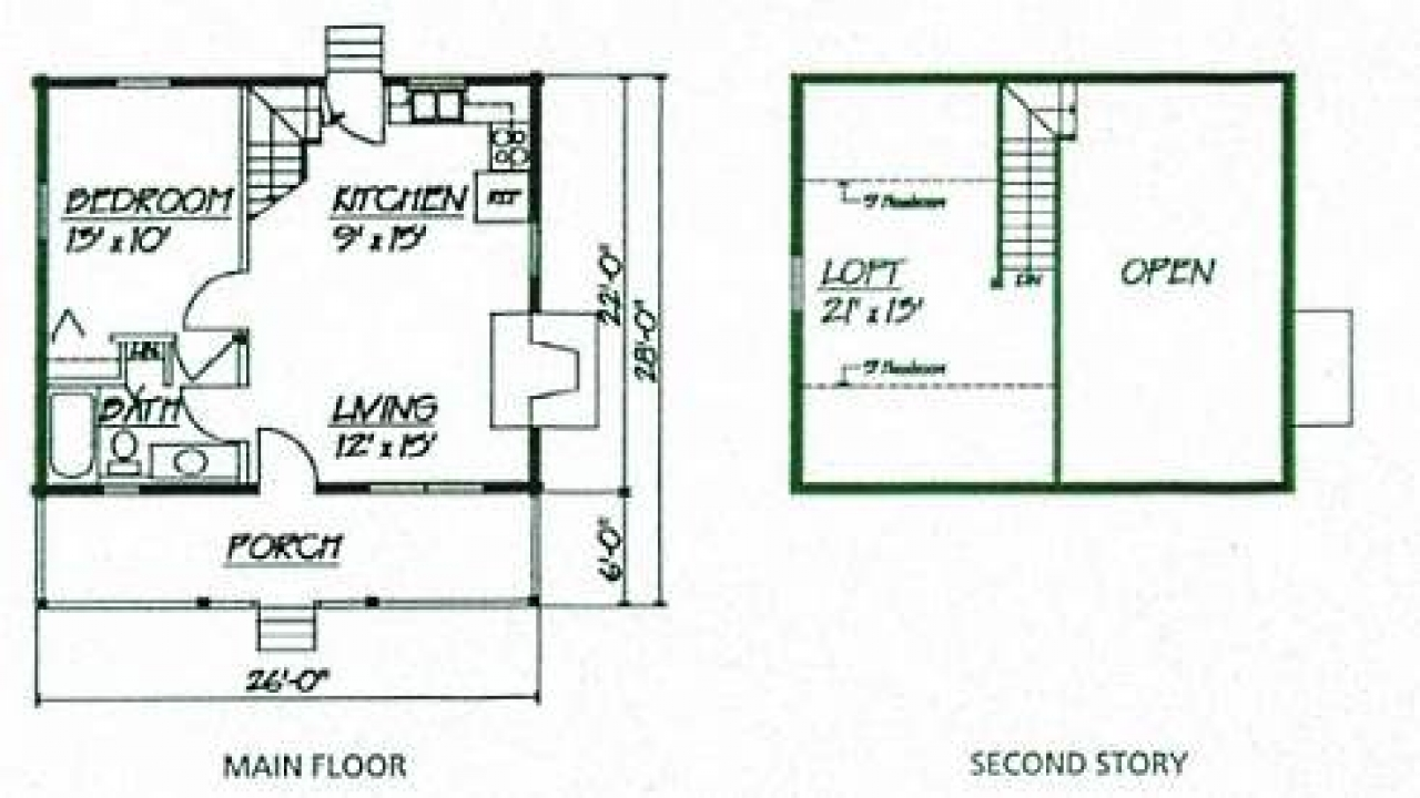 Small rustic cabin floor plans painted floor rustic barn for Rustic cottage floor plans