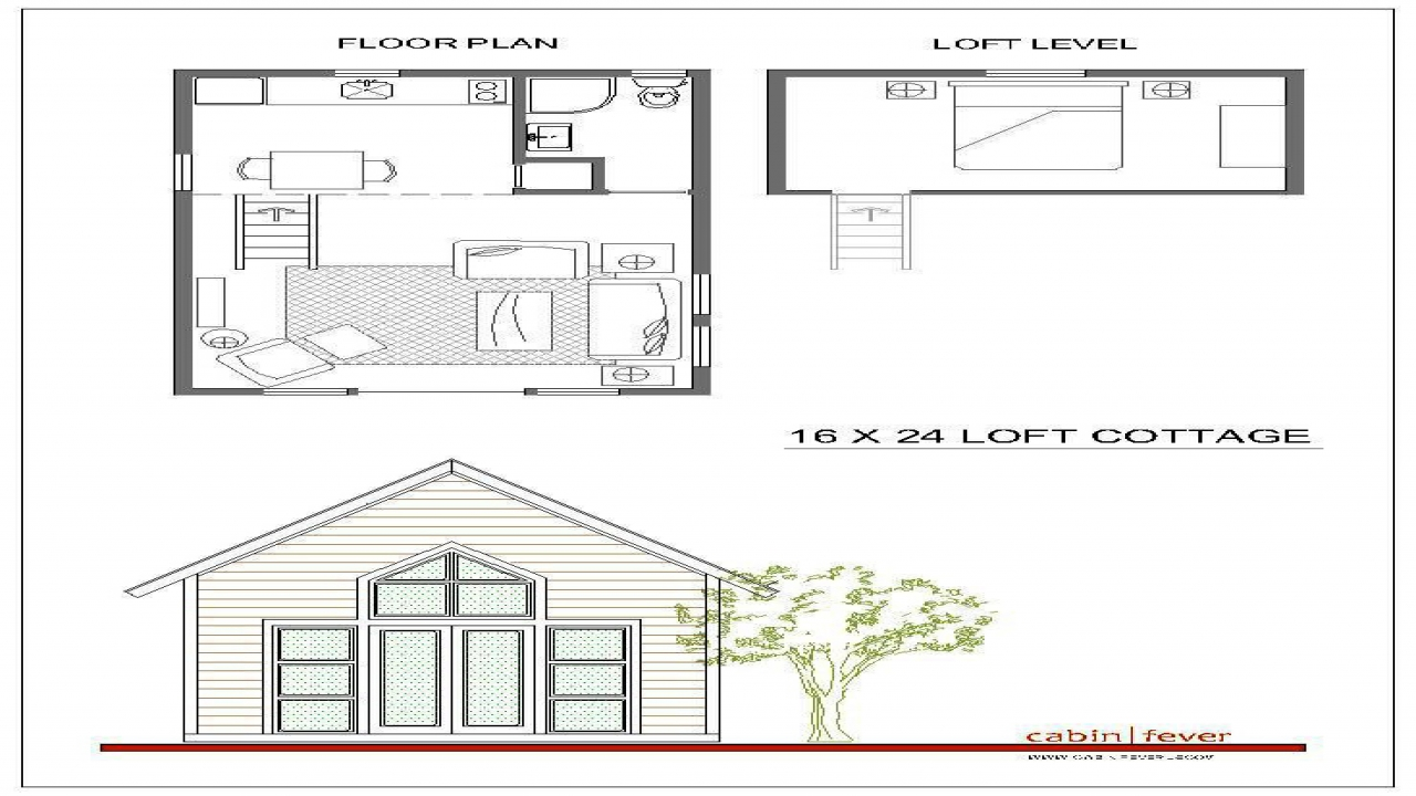 Rental cabin plans 16x24 16x24 cabin plans with loft for Simple cabin plans 24 by 24
